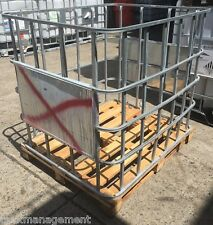 1000L empty IBC timberbase cage, storage, firewood