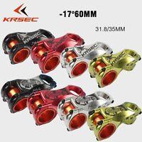 KRSEC Aluminum -17° 31.8/35*60mm MTB XC AM Road Bike handlebar Bicycle bar Stem