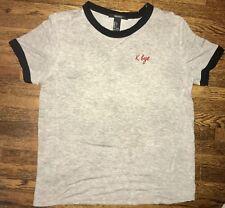 Forever 21 K Bye Heathered Ringer Tee Shirt Sz L