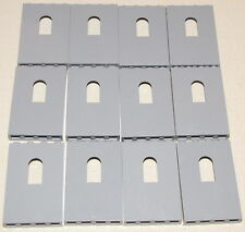 LEGO LOT OF 12 NEW LIGHT BLUISH GREY 1 X 4 X 5 DOT PANELS CASTLE WALLS WINDOWS
