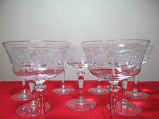 Nine Glastonbury Lotus Tall Champagne Sherbets Pattern 2011