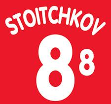Bulgaria Hristo local 96 Camisa Fútbol Fútbol De Impresión De Calor Número Letra H