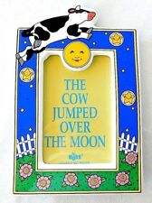 """Russ Picture Frame for 4"""" x 6"""" Photo Cow Jumped Over Moon Baby Nursery Rhyme"""