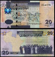 LIBYA 20 DINARS (P74) N. D. (2009) AUNC