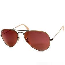 Ray Ban RB3025 167/2K Aviator Flash Bronze Copper/Red Mirror Sunglasses Size 58
