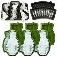 3D Silicone Ice Cube Mold Pistol Gun/AK47 Bullet /Grenade Shape Ice Cube Maker