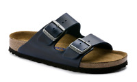 BIRKENSTOCK ARIZONA-Soft Footbed- Oiled Leahter in Blue