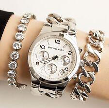 Original Michael Kors Uhr Damenuhr MK3149 RUNWAY TWIST Farbe:Silber NEU