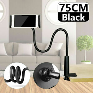 Mobile Phone Holder Flexible Gooseneck Clamp Long Arms Mount Lazy Bracket Stand