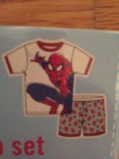 Spiderman Short Sleeve and Short Pajama Sleep Set -Size 3T