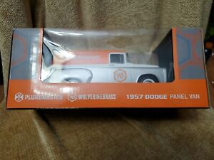 New in Box 1957 Dodge Panel Orange White Truck Wolverine Brass