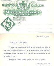 CARTOLINA BALBO TROFARELLO VERMUT LIQUORI MENTA CAMOMILLA ANNI 1930