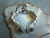 beduinen stil ethno armband tibetsilber unsisex  mit onyx similis  45,1g