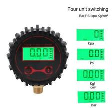 """Digital Tire Pressure Guage with Flashlight 0-250 PSI 1/4"""" for Car Bicycle Truck"""