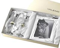 Cornice Valenti Nozze D'Argento 25° Anniversario di Matrimonio + Flute Cristallo