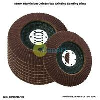 115mm 4.5'' Angle Grinder Aluminium Oxide SANDING FLAP DISCS Grinding Wheels