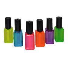 6er Set Textmarker Nagellack Design Pink Lila Orange Blau Gelb Grün Leuchtmarker