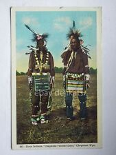 CHEYENNE Frontier Days Wyoming SIOUX INDIANS USA old postcard