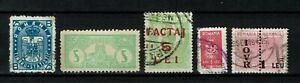Romania Revenue Stamp Fiscal Fiscaux Tax Timbru Fiscal selection 6