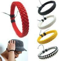 Herren Damen Verpackungs Leder Armband Geflochtenen B0Q7 Su Armband Seil P6D9