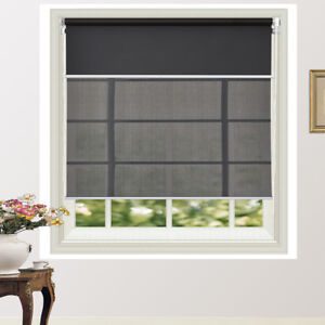Day/Night Double Roller Blind Flexible Colour Choices 160/210cm Drop