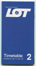 LOT POLISH AIRLINES SUMMER 2 TIMETABLE JUNE - AUGUST 1978 POLAND