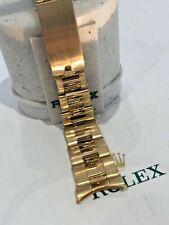 ROLEX 18K GOLD OYSTER BRACELET Clasp-7205,19mm Ends LENGTH 170mm