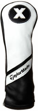 NEW TaylorMade Universal White/Black Leather Hybrid X Headcover