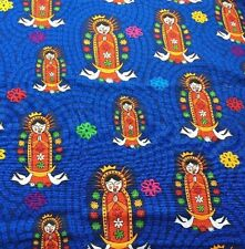RPFFF78 Our Lady Of Guadalupe Virgin Mary Folk Art Mexico Cotton Quilt Fabric