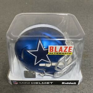 Dallas Cowboys NFL Speed Alternate BLAZE Mini Football Helmet Riddell