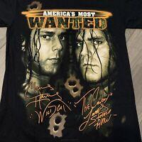 Vintage TNA Wrestling T Shirt Adult M Black Chris Harris James Storm WWF WWE