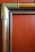 Vintage 20 x 16 Solid Wood Picture Art Print Painting Frame Metal Corner Overlay