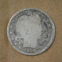 1898-P Barber/Liberty Head Quarter Good    A-251