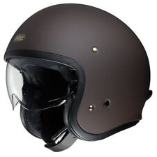 SHOEI J.O Classic Open Face Motorcycle Helmet Matt Brown Small