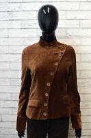 Giacca Donna NAF NAF Taglia Size S Maglia Blazer Vintage Jacket Woman Marrone