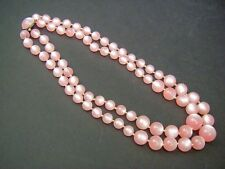Vintage Pink Moonglow Double Strand Necklace