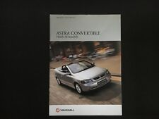 Vauxhall Astra Convertible Brochure 2001