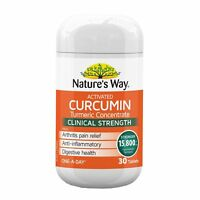 NATURE'S WAY ACTIVATED CURCUMIN 30 TABLETS TURMERIC CONCENTRATE 15800MG