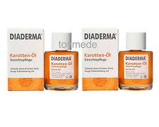 2x DIADERMA Karotten-Öl Gesichtspflege je 30ml Anti-Falten+frischer Teint