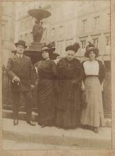 Trois Femmes avec un homme Mode Chapeau Photo Vintage Argentique