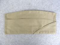U.S. Army Korean War 1952 Khaki Tan Garrison Cap Hat Size 7 3/8 Genuine