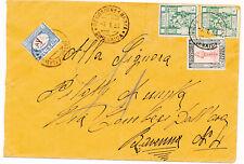 1933 DALLA LIBIA CON FRODE POSTALE TASSATA IN ARRIVO 1 LIRA