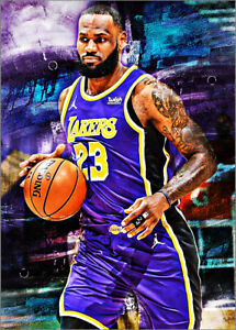 2021 Lebron James Los Angeles Lakers 2/25 Art ACEO Print Card By:Q
