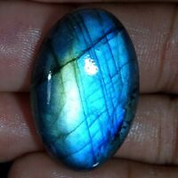 Blue Fire Spectrolite Labradorite Oval Cabochon Natural Multi Flash Gemstone JG2