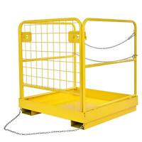 "36""x36"" Forklift Safety Cage Work Platform Basket Heavy Duty Steel Collapsible"