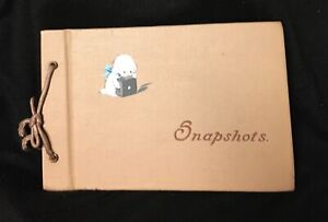 Vintage Snapshot Album with Little White Dog on Cover unused 1950s-60s NO PHOTOS