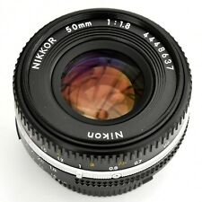 Nikon Nikkor 50mm f/1.8 AIS 'Pancake' super sharp lens. Nr Mint. See tst pics.