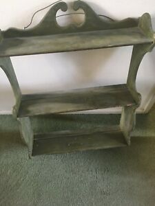 PAINTED  Wall Curio Shelf 28 X 20 X 6 - RUSTIC