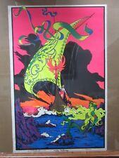 Large Vintage Black Light Poster 1971 The Viking  Inv#G1350