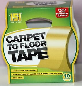 151 Carpet To Floor Tape - 48MM x 10M - Great for fixing Carpets & Flooring